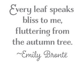 lighthearted leaves emily bronte